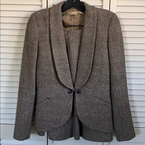 Max Studio Tweed Suit (Size 2)